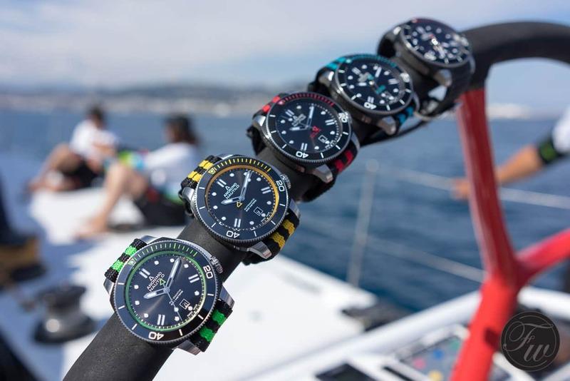 Anonimo Nautilo Nato presentation aboard SFS VOR70 racing yacht