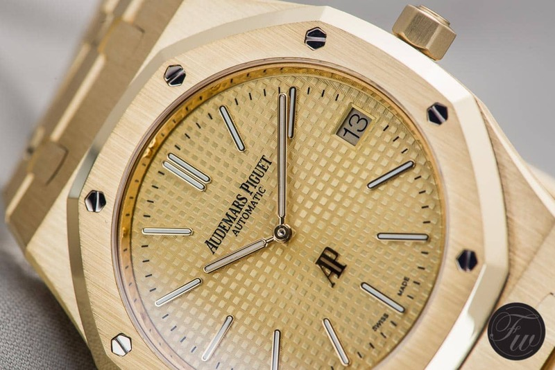 Hands-On With The New Audemars Piguet Royal Oak Extra-Thin in Yellow Gold