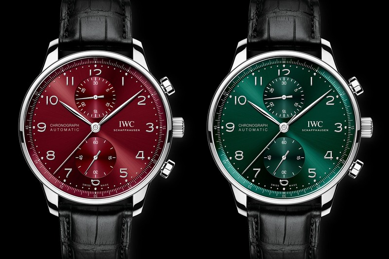 IWC Portugieser Chronograph IW3716 Green and Burgundy Dials