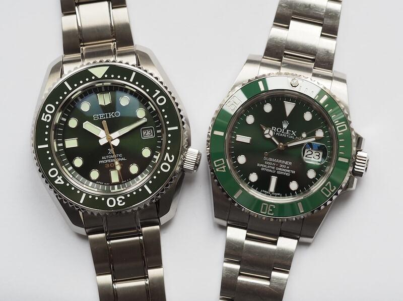 Rolex Submariner Hulk versus Seiko SLA019 : Shades of Green