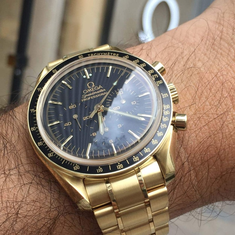 """Speedy Tuesday – A Collector's Story On His Gold """"Dave Navarro"""" Speedmaster"""