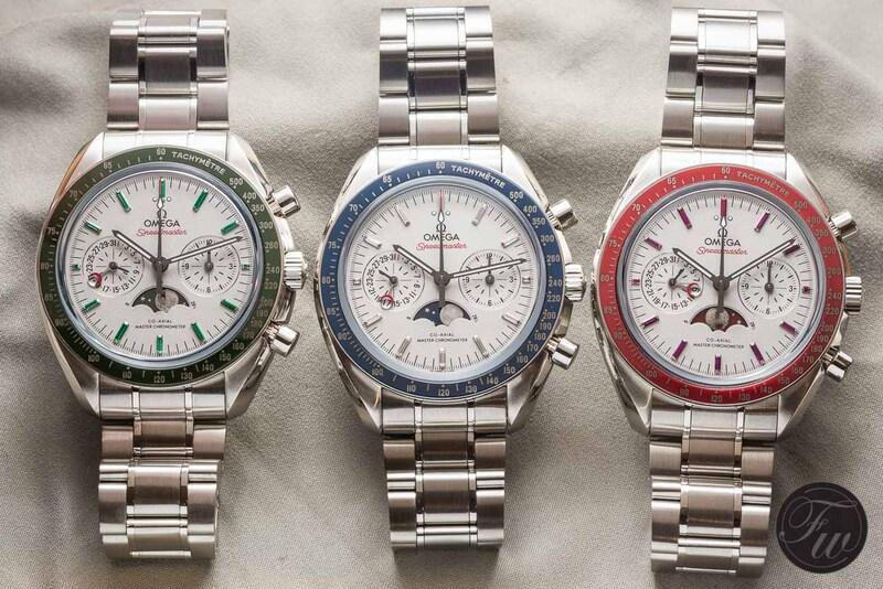 Speedy Tuesday – Three New Platinum Speedmaster Moonphase Watches