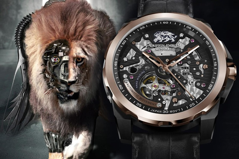 WHO SAYS THAT MEN DO NOT WEAR JEWELRY? THE GRIFFIN EMBLEM SKELETON TIMEPIECE HAS REDEFINED THIS CONCEPT!