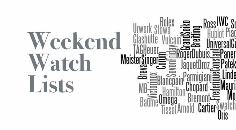 Weekend Watch Lists – Top 10 Mechanical Watches Between 2000 And 3000 Euro