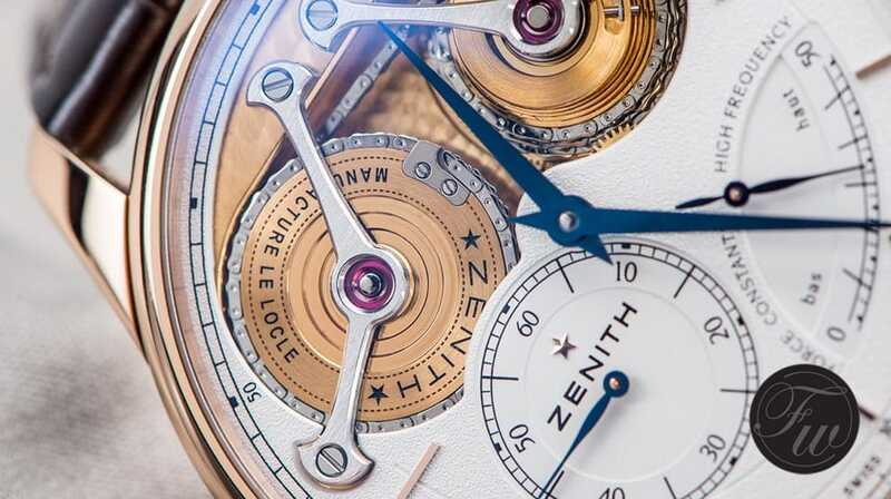 Zenith: Protecting the chain when winding the watch